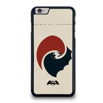 superman vs batman yin yang iphone 6 6s plus case cover  number 1