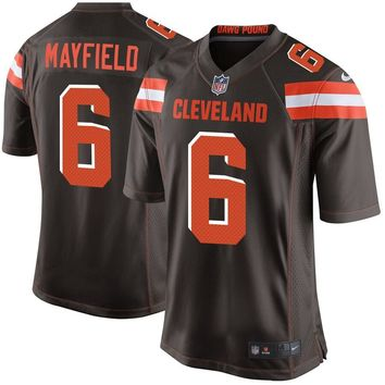 Youth Cleveland Browns Baker Mayfield Nike Brown Game Jersey