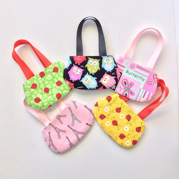 18 Inch Doll Purses, Set of 5 Doll Purses for American Girl Dolls, Party Favors