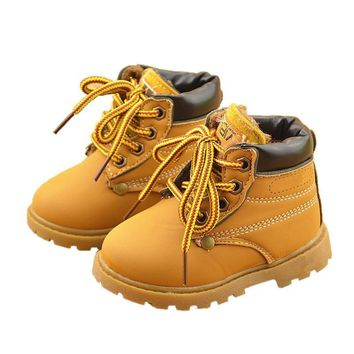 Comfy kids winter Fashion Child Leather Snow Boots For Girls Boys Warm Martin Boots Sh