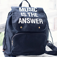 Music is the Answer Backpack - Jac Vanek