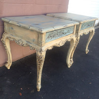Vintage French Provincial Side Tables /Nightstands A Matching Set