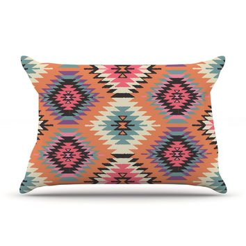 "Amanda Lane ""Southwestern Dreams"" Orange Pink Pillow Sham"