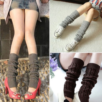 Women's Fashion Winter Knit Crochet Leg Warmers Legging 9 Colors = 1958157700
