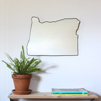 Oregon Mirror / Wall Mirror State Outline Silhouette Portland Eugene