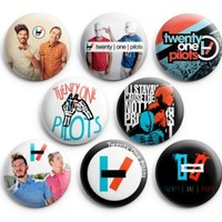 Twenty One Pilots Pinback Buttons 8Pcs 1.25 inch