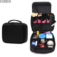 Hot Sell Women Beauty Professional Cosmetic Case Travel Waterproof Portable Large Necessity Storage Makeup Brush Organizer Bag