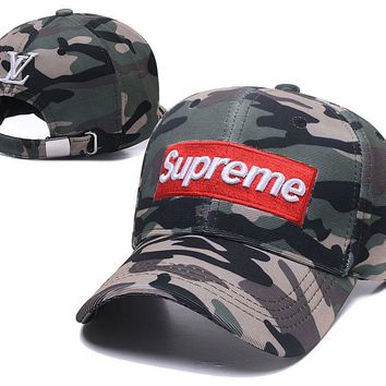 supreme baseball caps Adjustable Baseball Cap Unisex Couple Cap Fashion Leisure dad Hat Snapback Cap undefined