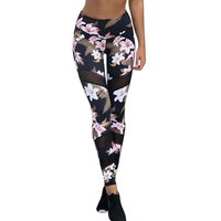 Flo Floral Leggings with Mesh Inserts