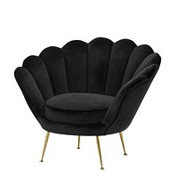 Black Scalloped Accent Chair | Eichholtz Trapezium