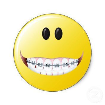 Braces Smiley Face Stickers from Zazzle.com