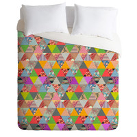 Bianca Green Lost In Pyramid Duvet Cover