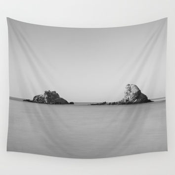 Serenity sea. BW. Sunrise Wall Tapestry by Guido Montañés