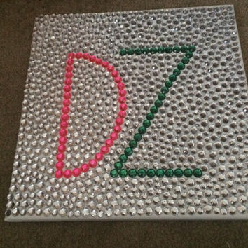 Customizable Sorority Rhinestone Canvas