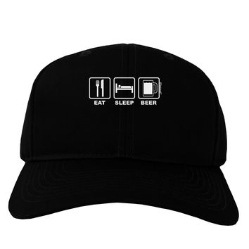 Eat Sleep Beer Design Adult Dark Baseball Cap Hat by TooLoud