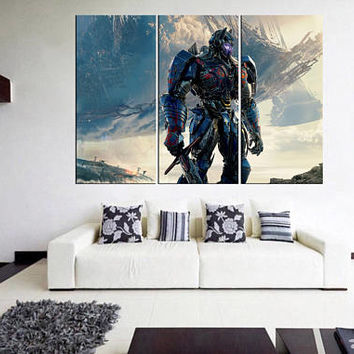 transformers wall art, transformers canvas print, large canvas wall art print, movie wall art, megatron decal for bedroom 11m44