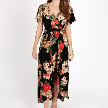 Aurelia Maxi Wrap Dress
