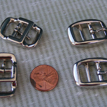 Double Bar Buckle, Small Nickel Plated, Zinc Die Cast Buckle. New and never used.