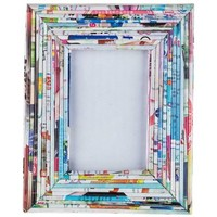 "3"" x 4 1/2"" Colorful Rolled Paper Photo Frame 