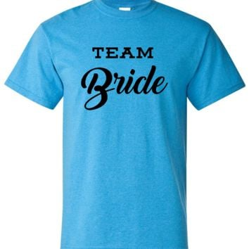 Team Bride I Do Crew Bridesmaid Soft Shirts