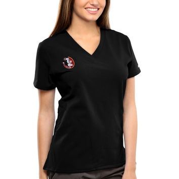 Florida State Seminoles New Balance Women's V-Neck Performance Scrub Top – Black