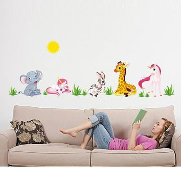 Super Deal Hot Sale Animal Pattern Removable Mural Wall Stickers Wall Decal Room Home Decor Mural Decal  XT