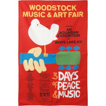 Woodstock Poster Flag