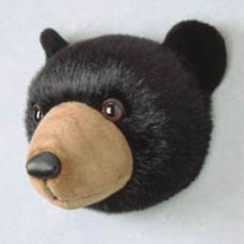 Bear Head Stuffed Animal Wall Mount