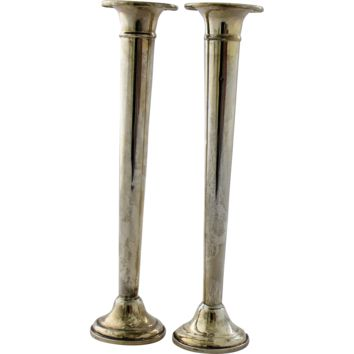Vintage Pair Sterling Silver Candlesticks by Reed Barton Classic Design Number 607 Candle Sticks 7 Inches