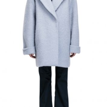 Brushed Wool Oversize Coat - DUSTY BLUE | NICHOLAS | Green with Envy