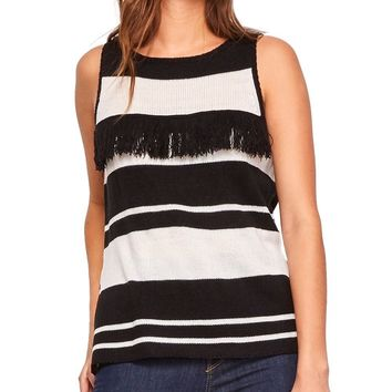 Eryn Fringe Sleeveless Sweater
