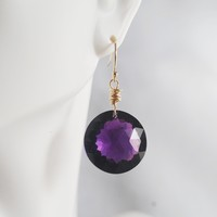 AAA Gem 40ct. Purple Amethyst Dangle Drop Earrings- Wedding Jewelry- Bridal Jewelry