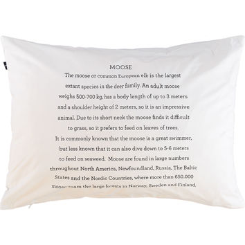 White Moose Facts Pillowcase 200TC - Bed Linen - Bed & Bath - Home - TK Maxx