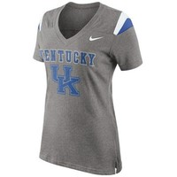 Nike Kentucky Wildcats Ladies Fan Top V-Neck T-Shirt - Ash
