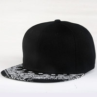 New Fashion Paisley Hip Hop Cap Metrosexual Flat Hat Baseball Caps