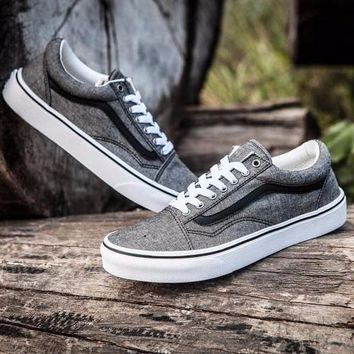 Best Online Sale 2017 New Vans Old Skool Grey Low Canvas Shoes Sneakers VN0A38G1MML