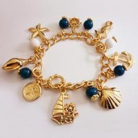 Life at Sea Nautical Charm Bracelet | Sincerely Sweet Boutique