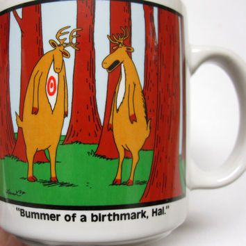 Cup Mug The Far Side 1986 Gary Larson Coffee Funny Farside Bummer of A Birthmark Hal