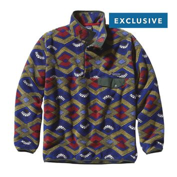 Patagonia Men's Synchilla® Recycled Snap-T® Fleece Pullover | Slowfoot: Cobalt Blue