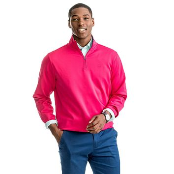 Riverbend Performance 1/4 Zip Pullover in Sangria by Southern Tide