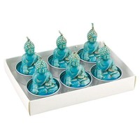 Buddha Tea Lights Turquoise