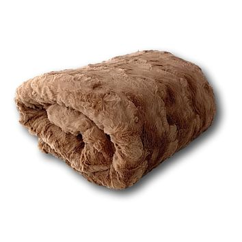 Tache Super Soft Brown Wild Chocolate Falls Faux Fur Sherpa Throw Blanket