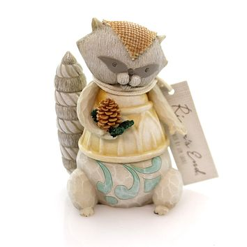 Jim Shore Raccoon Figurine Christmas Figurine