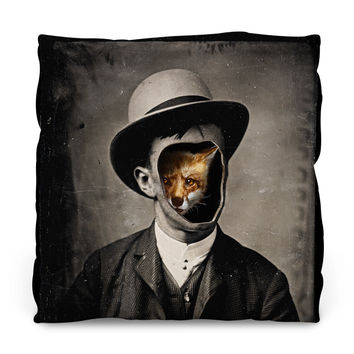 Gentleman Fox Throw Pillow