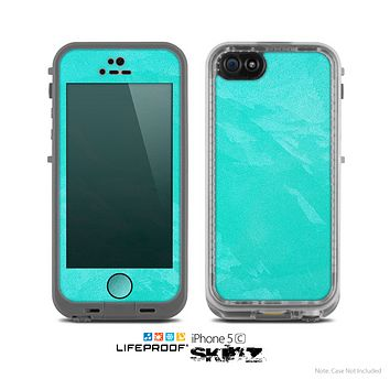 The Subtle Neon Turquoise Surface Skin for the Apple iPhone 5c LifeProof Case