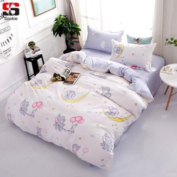 Home Textile Humorous Winlife Pink Unicorn Duvet Cover For Girls Stars And Cloud Pattern Design Bed Cover Set 3pcs Goods Of Every Description Are Available