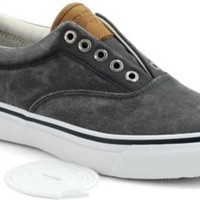 Sperry Top-Sider Striper CVO Salt Washed Twill Sneaker NavySaltWashedTwill, Size 9M  Men's Shoes