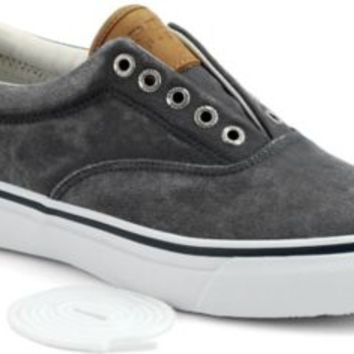 Sperry Top-Sider Striper CVO Salt Washed Twill Sneaker NavySaltWashedTwill, Size 10W  Men's Shoes