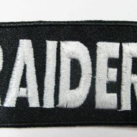 OAKLAND logo RAIDERS team NAME PATCH badge stitched size 3.5 CM* 8 CM