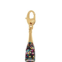 Kate Spade Champagne Bottle Charm Multi Glitter ONE